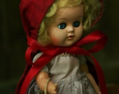 Little Red Riding Hood Doll Recycled From Vintage 1920's-1950's Doll