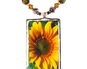 Radiant Sunflower necklace