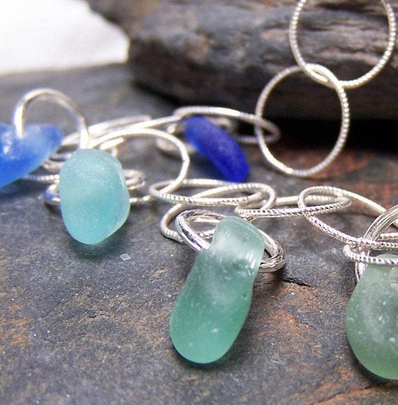 CALM WATERS - Sea Glass STERLING Silver Bracelet