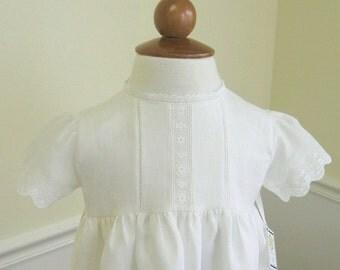 Linen Baptism Dress Christening Gown, bonnet for boys or girl, Marie