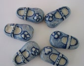 Porcelain Beads Mary Jane Shoes