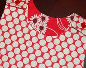 SAMPLE SALE -- Dots and Daisies -- Reversible Dress Size 2