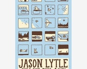 Jason Lytle (formerly of Grandaddy) hand-pulled, screen printed concert poster