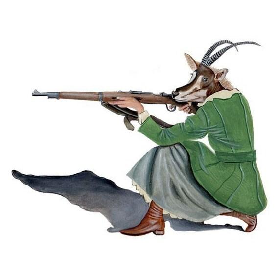 the hunter 5x7 print