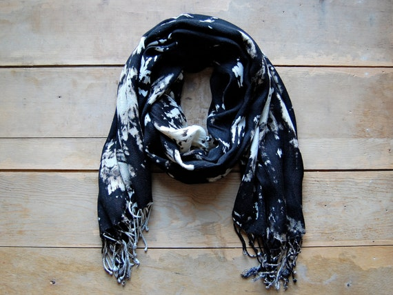 Galaxy Scarf  - hand-dyed tie dye - Style B