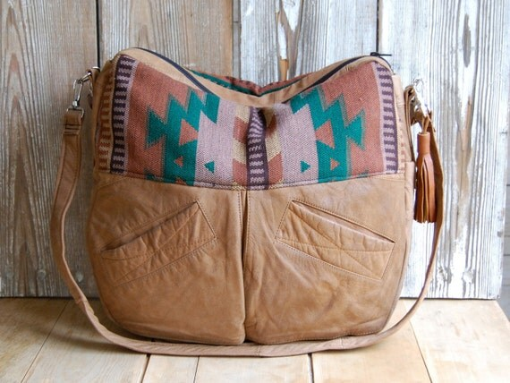 Sandy Brown Tundra with navajo fabric