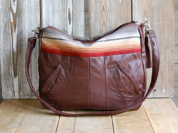 SALE /// Tundra in reclaimed brown leather and southwestern material