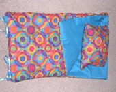 Handmade Sleeping Bag (Bright Circles) fits 18 inch Doll Like American Girl