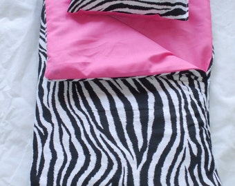 Handmade Sleeping Bag (Hot Pink/Zebra) fits 18 inch Doll Like American Girl  This is My Best Seller
