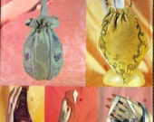 SALE- Destash-4 Sewing patterns. SCA, Ren Faire, Costuming, beautiful embellished purses, bags, wristlets, pouches  etc- uncut- 3 Vogue, 1 Mc Calls-