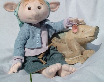 Pippin Poorbelly, a Polliwog faerie, child friendly PDF sewing pattern