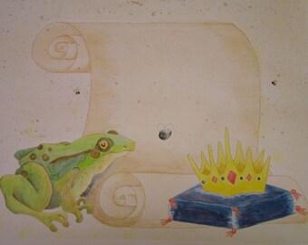 Custom Frog Prince Birth Announcement
