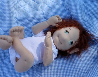 Hapenny Magick Newly Borns, soft doll sewing pattern, digital download