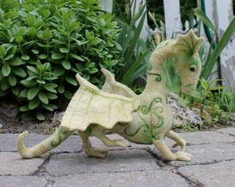 New sewing pattern for Jewel Dragon, hand sewn from felt, digital download