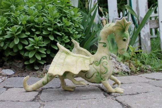 Layaway for POTTERYCRAZEDGAL, Green Jewel Dragon, hand sewn, hand dyed, stuffed dragon