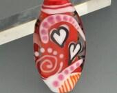 Happy Valentine Lampwork Focal