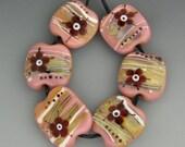 Lampwork beads - Fallish Flowers