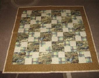horse lap quilt