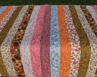 baby girl strip quilt
