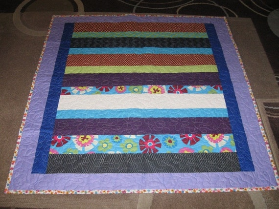 bright girly lap quilt