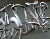 Funky Silver Cuff Bracelet