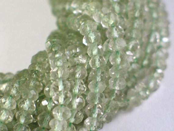 SPECIAL PRICING - Green Amethyst Faceted Rondelles (R-Am8)