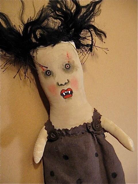 Art Doll Marta Vampire Ooak Vampire Rag Doll Rag Dolls