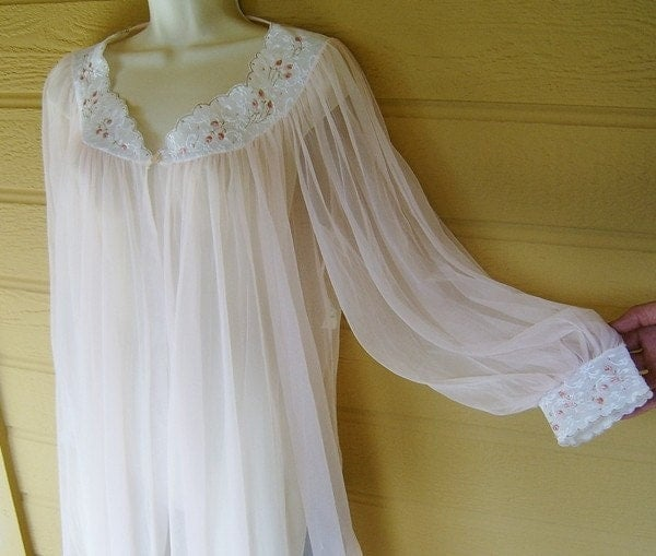 Vintage Nightgown See Through Pink Princess M