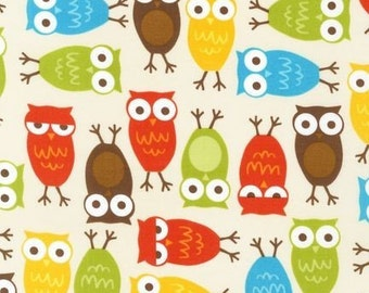 Urban Zoologie Owls in Bermuda by Ann Kelle for Robert Kaufman - 1 Yard