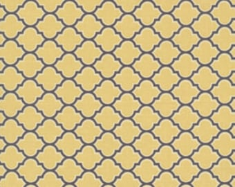 Joel Dewberry's  Aviary 2,  Lodge Lattice in Vintage Yellow,  yard