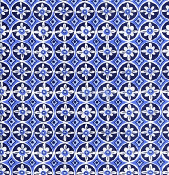Tea garden by dena designs oolong in navy for Dena designs tea garden fabric