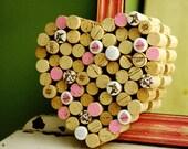 Wine Corkboard - Heart Corkboard, It's a Cupcake War, Decorative Corkboard, Kitchen Organizer, Cupcake Lover Gift, Bulletin Board, Uncorked