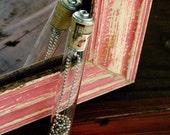 Jane Austen Necklace - Redbird Necklace, Robin, Bird, Eco Friendly, Cork, Necklace Test Tube, Upcycled, Girl Gift, Girlfriend - Uncorked