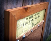 In It With All My HEART Recycled Cedar Record Frame Corkboard UNCORKED