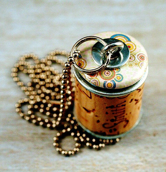 Cork Beads: Wine Cork Necklace Upcycled Jewelry By Uncorked Creamy