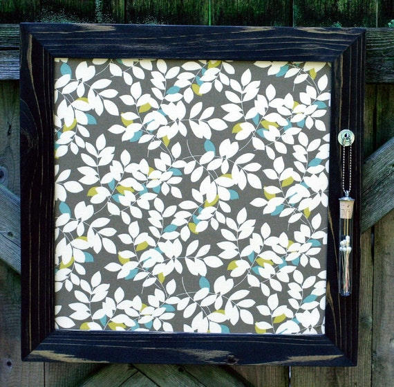Gorgeous Brown and Cream Leaves Recycled JEWELRY BOARD by Uncorked