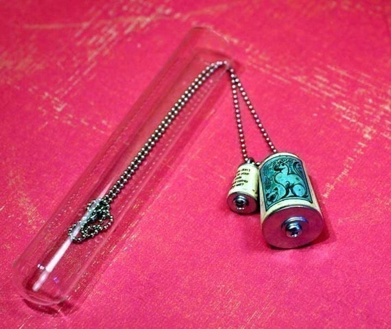 CAT ADDICT Intervention Cork Necklace Uncorked In Test Tube