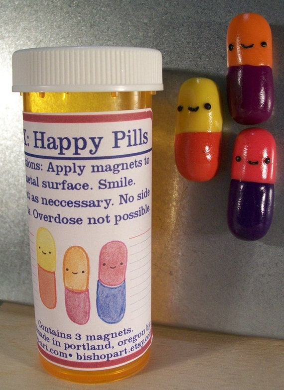 Happy Pill magnets