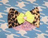 Trashy Leopard Bow Clip