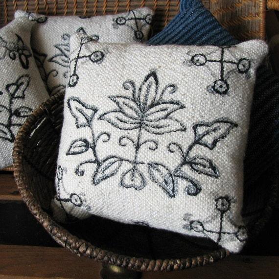 Cotton Handwoven Hand Painted Decorative Pillow