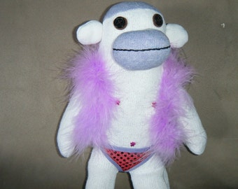 Sexy Male Stripper Sock Monkey (clean version)