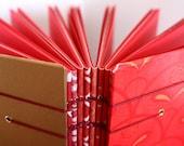 RED Coptic Bound Book