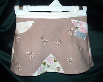 KID'S HALF APRON FROM VINTAGE FABRIC