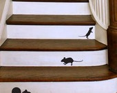Mouse decal set  3 mice and one hole