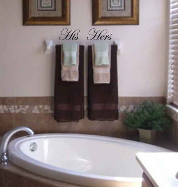His and hers vinyl wall decals for His hers bathroom decor