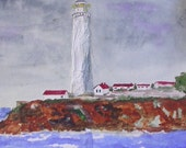Watercolor Collage Lighthouse