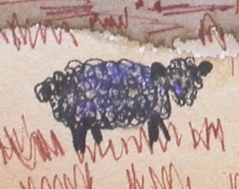 Baa, Baa, Black Sheep ACEO