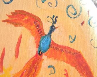 Flight of the Phoenix Original Acrylic Painting