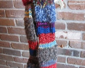 Totally Soft, Totally Tubular, One Of A Kind,  Hand-Knit Winter Scarf