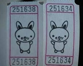 Baby Bunny Vintage Style Hand Stamped Carnival Tickets